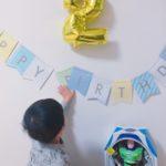 息子の誕生日プレート